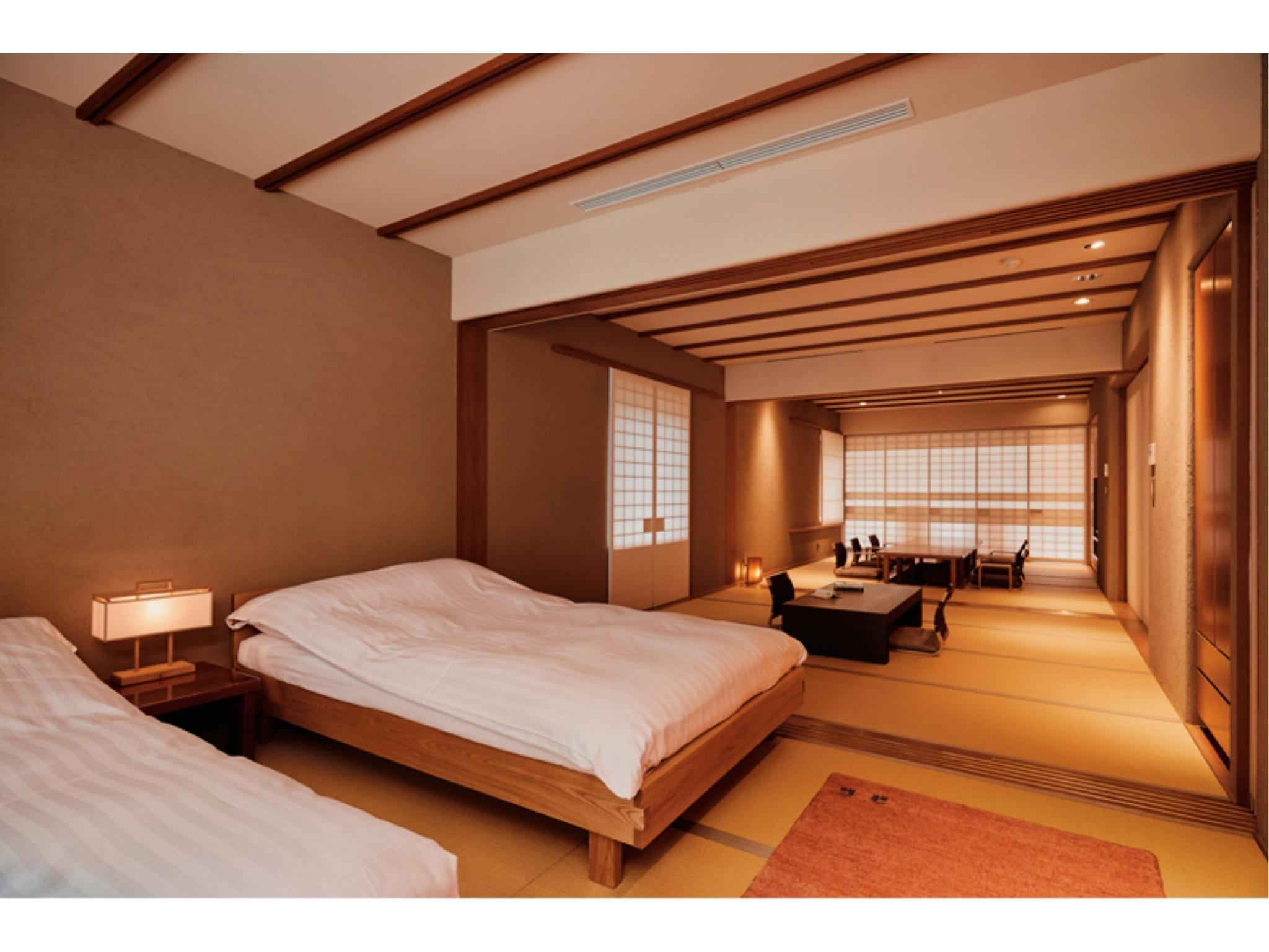 프리미엄 스위트룸(신관/FUSHA-NO-MA/114호실/온천탕) (Premier Suite with Hot Spring Bath (Room 124, Fusha-no-Ma Type, New Building))