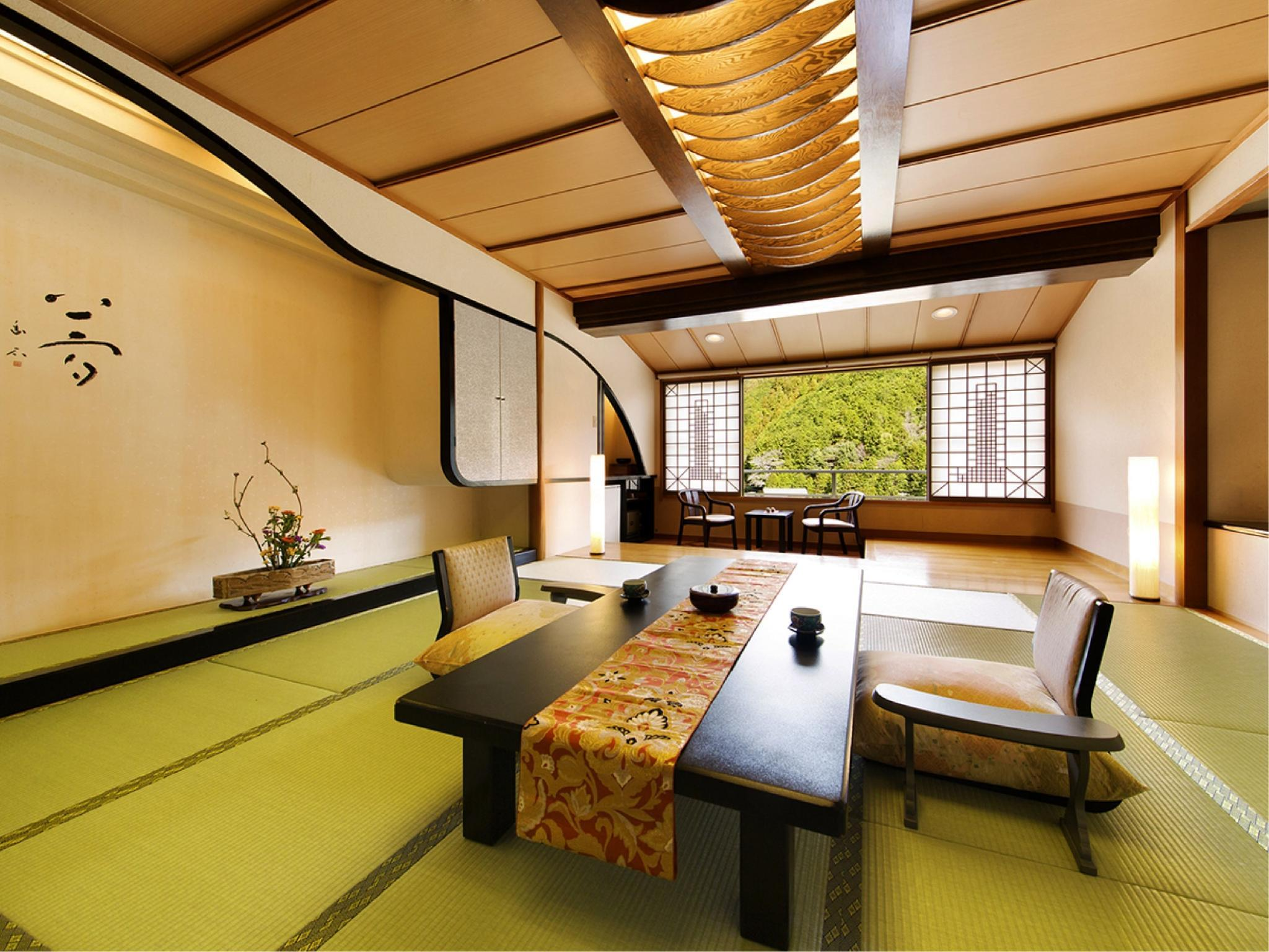 【新館特別室◇夢の館】12.5+6畳~1日1室限定の贅沢客室 (Special Japanese-style Room (New Building Yume-no-Yakata Wing))