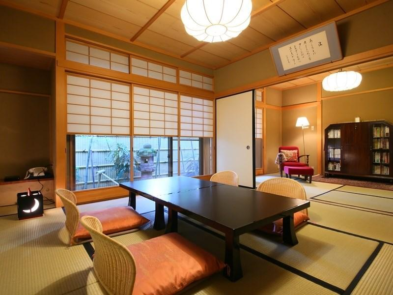 Special Japanese-style Room with Cypress Hot Spring Bath & Central Garden