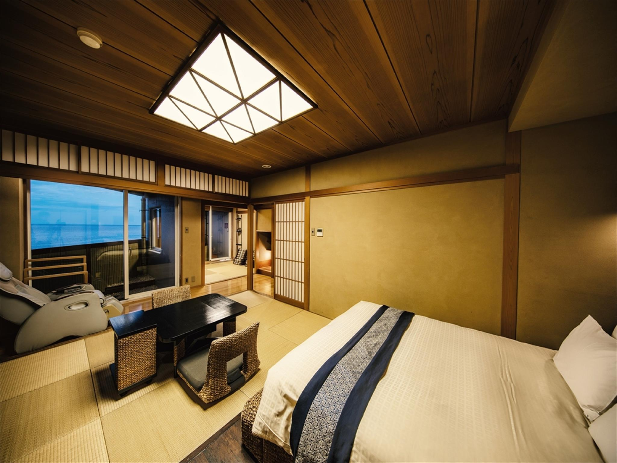 Japanese/Western-style Room with Open-air Bath (Japanese-style Room + Double Bed)