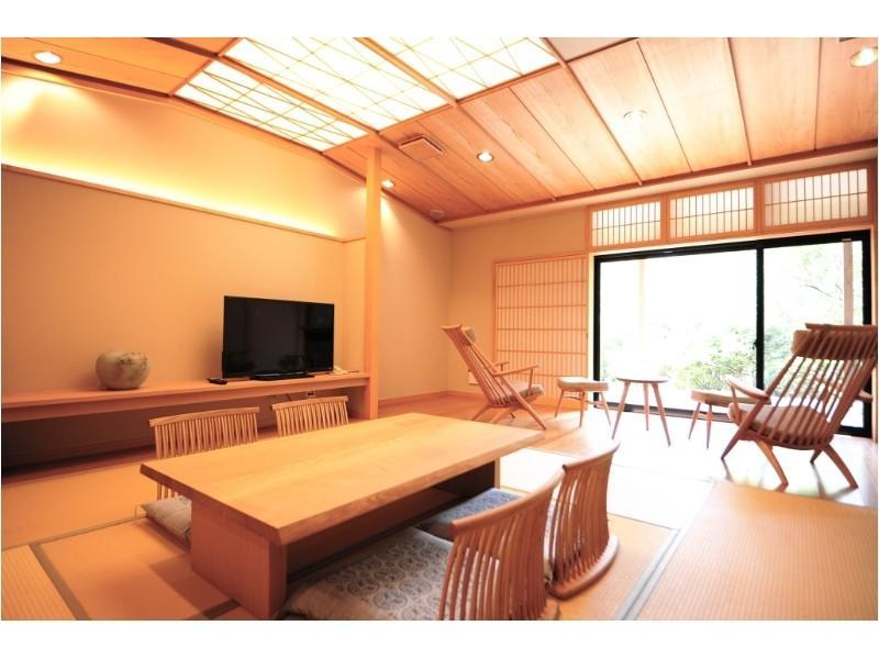 山水亭 和洋式房+露天风吕 (Japanese/Western-style Room with Open-air Bath (2 Beds))