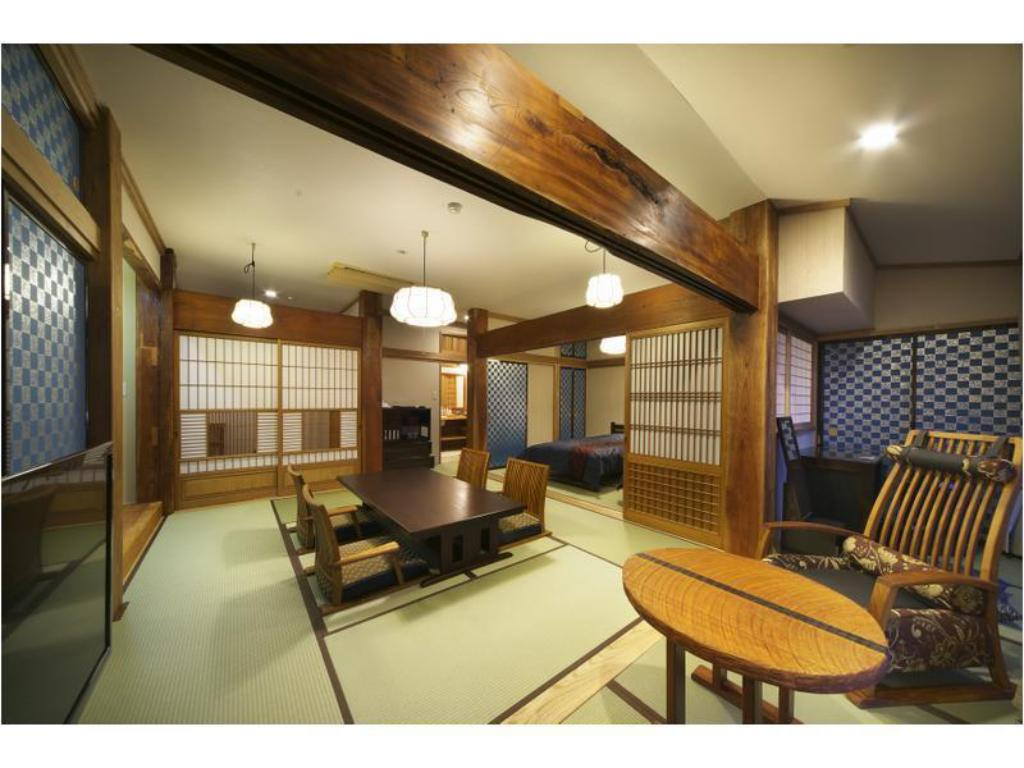 Country-style Japanese-style Room with Open-air Bath (Ajisai-no-Ma Type, Main Building) - Guestroom Chikurinan Mizuno