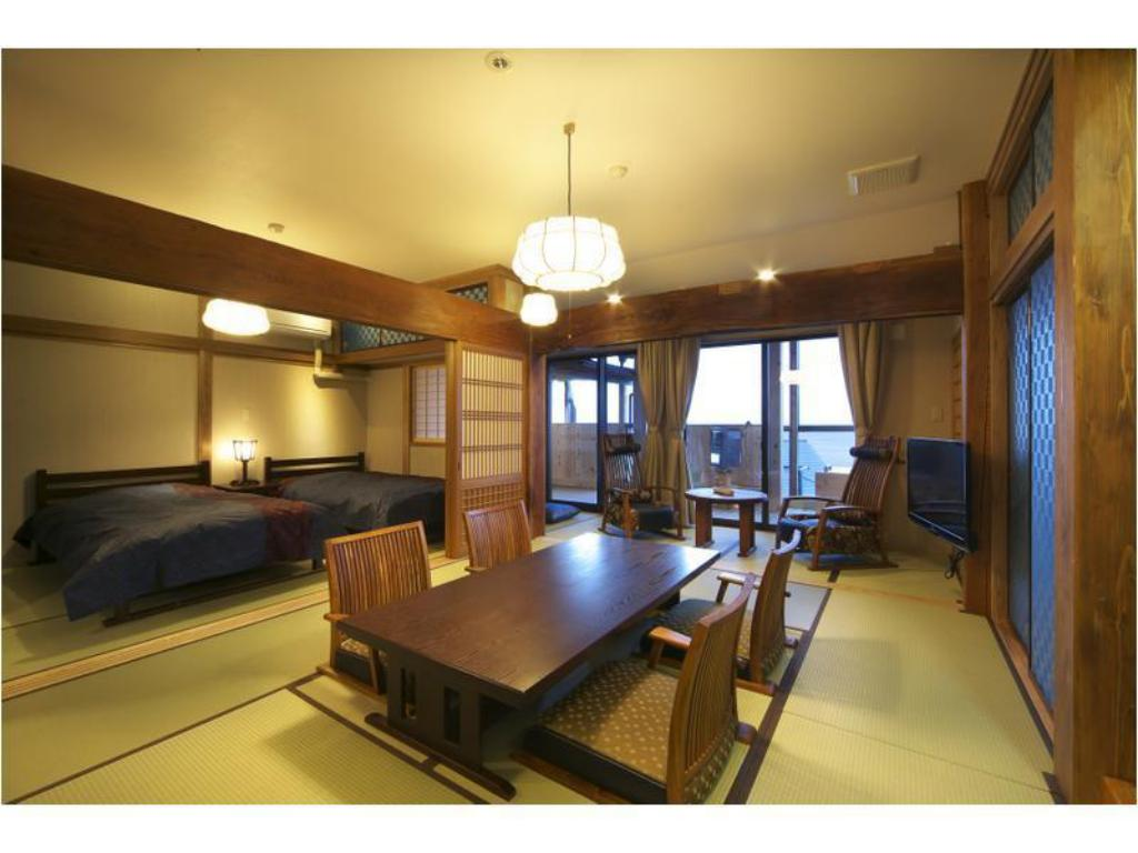 Japanese-style Room with Open-air Bath (2 Beds, Ajisai Type, Main Building) - Guestroom