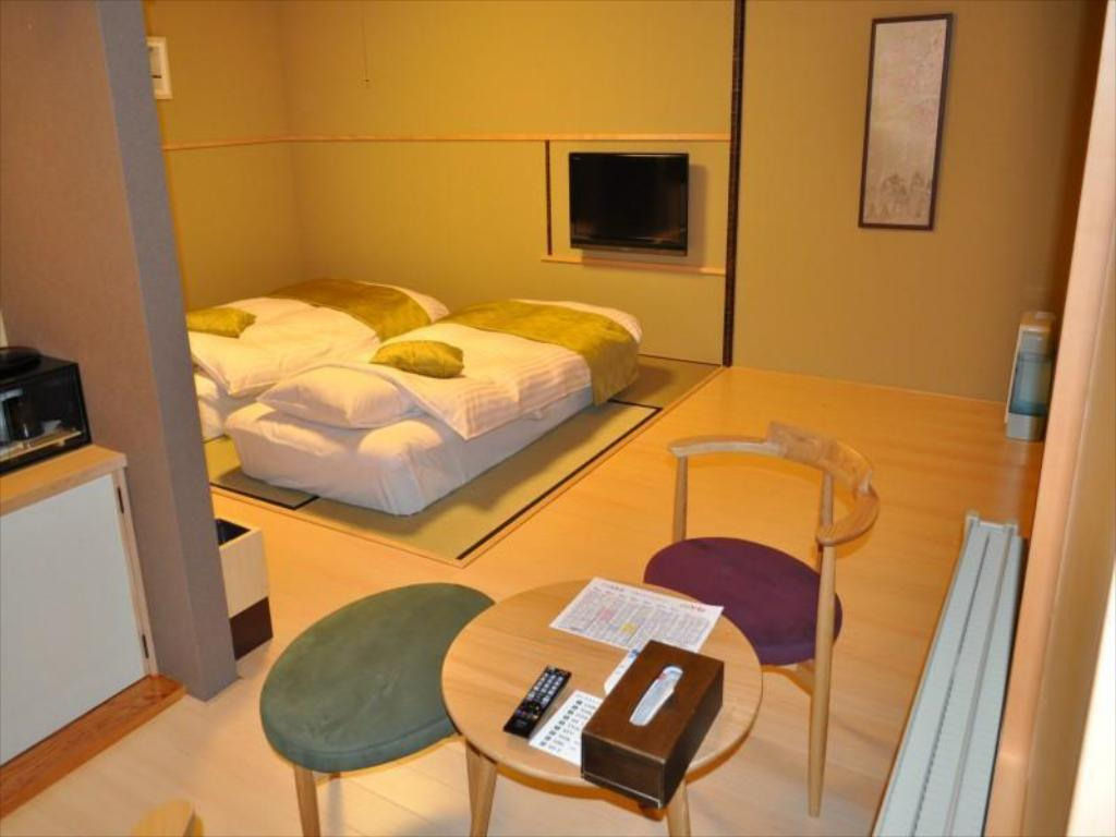 Japanese-style Room with Open-air Bath (2 Japanese Beds, Main Building) - Guestroom Mori no Ryotei Biei