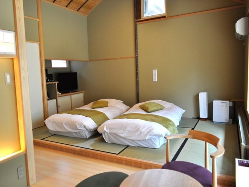 Detached Japanese-style Room with Open-air Bath (2 Japanese Beds)