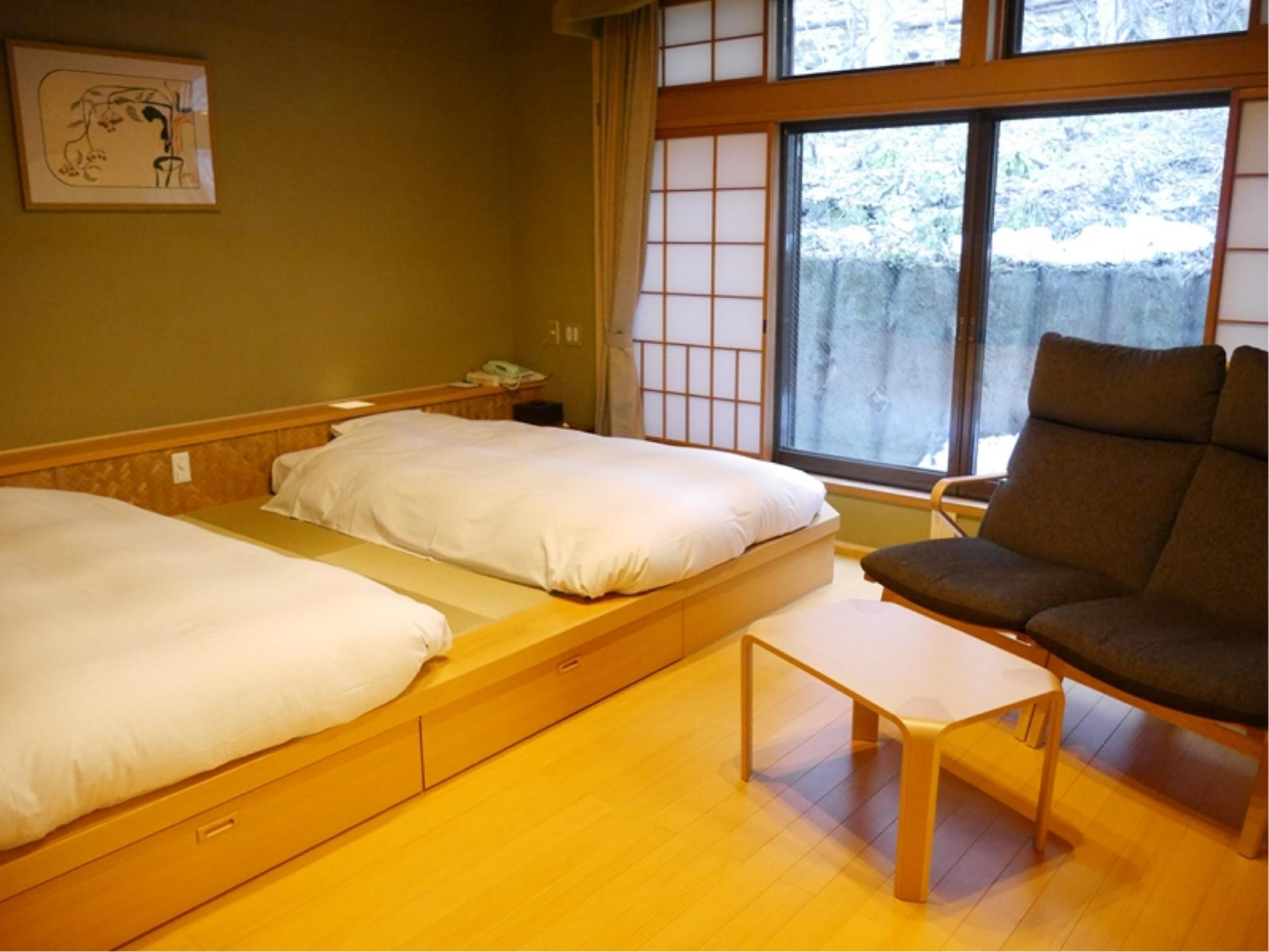 Detached Japanese-style Room (Twin Beds, Shiki-tei Wing) *Refurbished July 2017