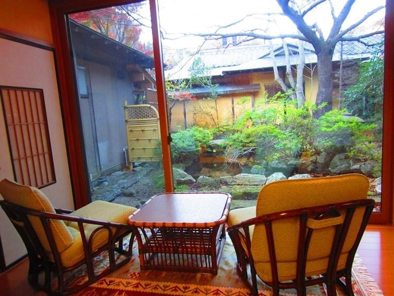 Detached Japanese-style Room with Semi Open-air Hot Spring Bath (Shorai-tei Wing)