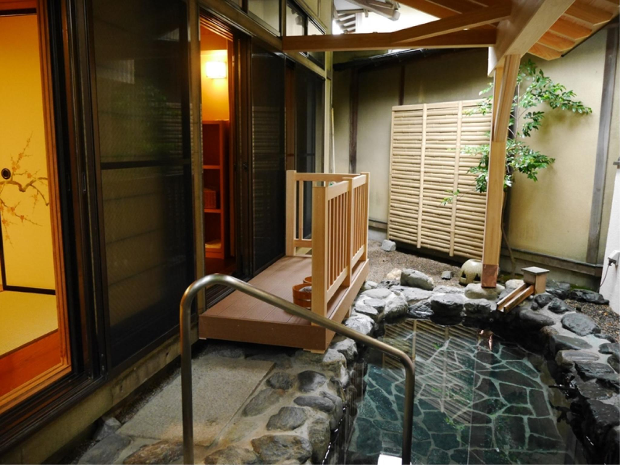 Japanese-style Room with Open-air Bath (Hanagoromo Type, Shiki-tei Wing) *Children OK