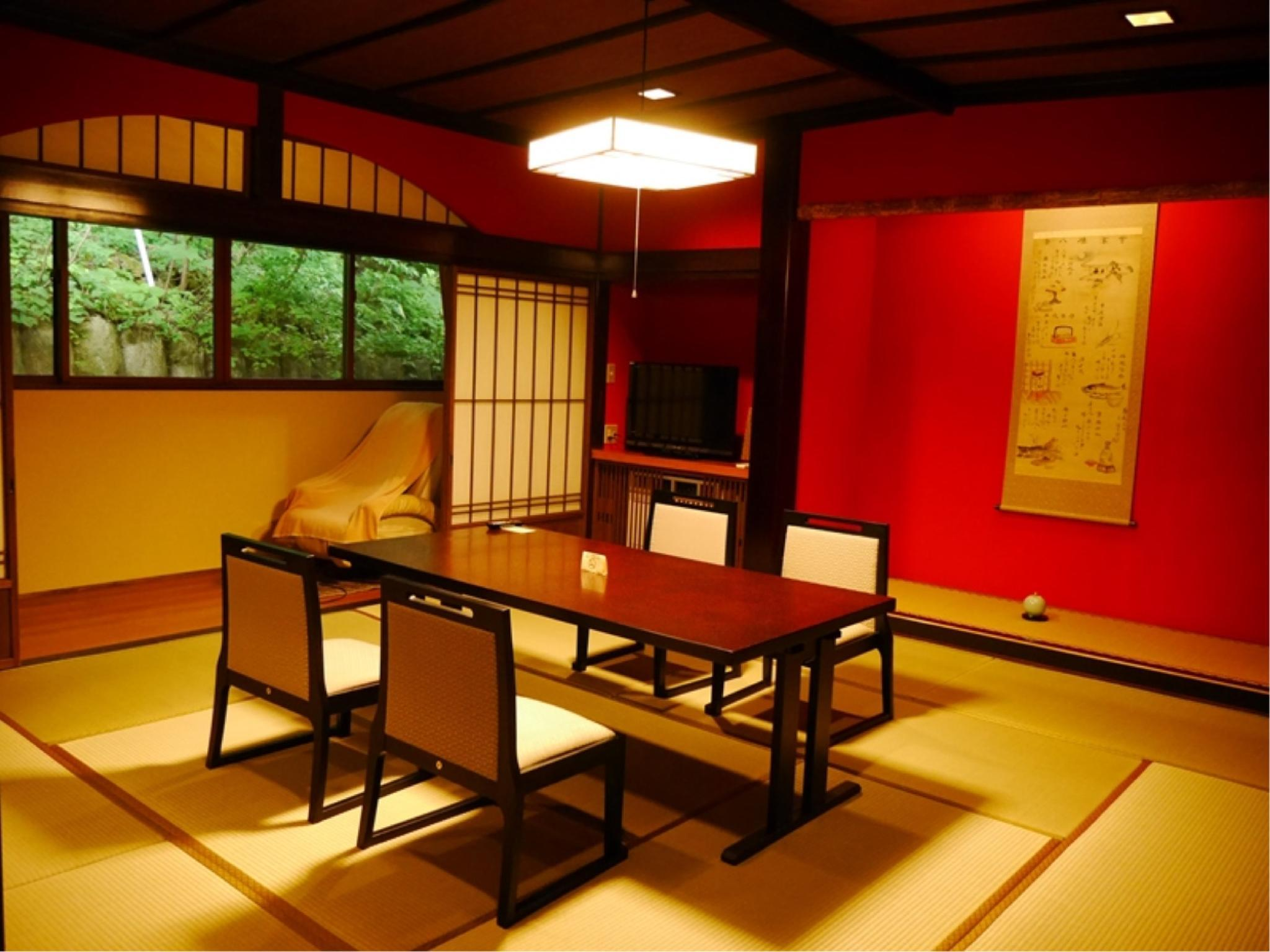 Detached Japanese-style Room with Hot Spring Jacuzzi Bath (Shiki-tei Wing) *Refurbished July 2017