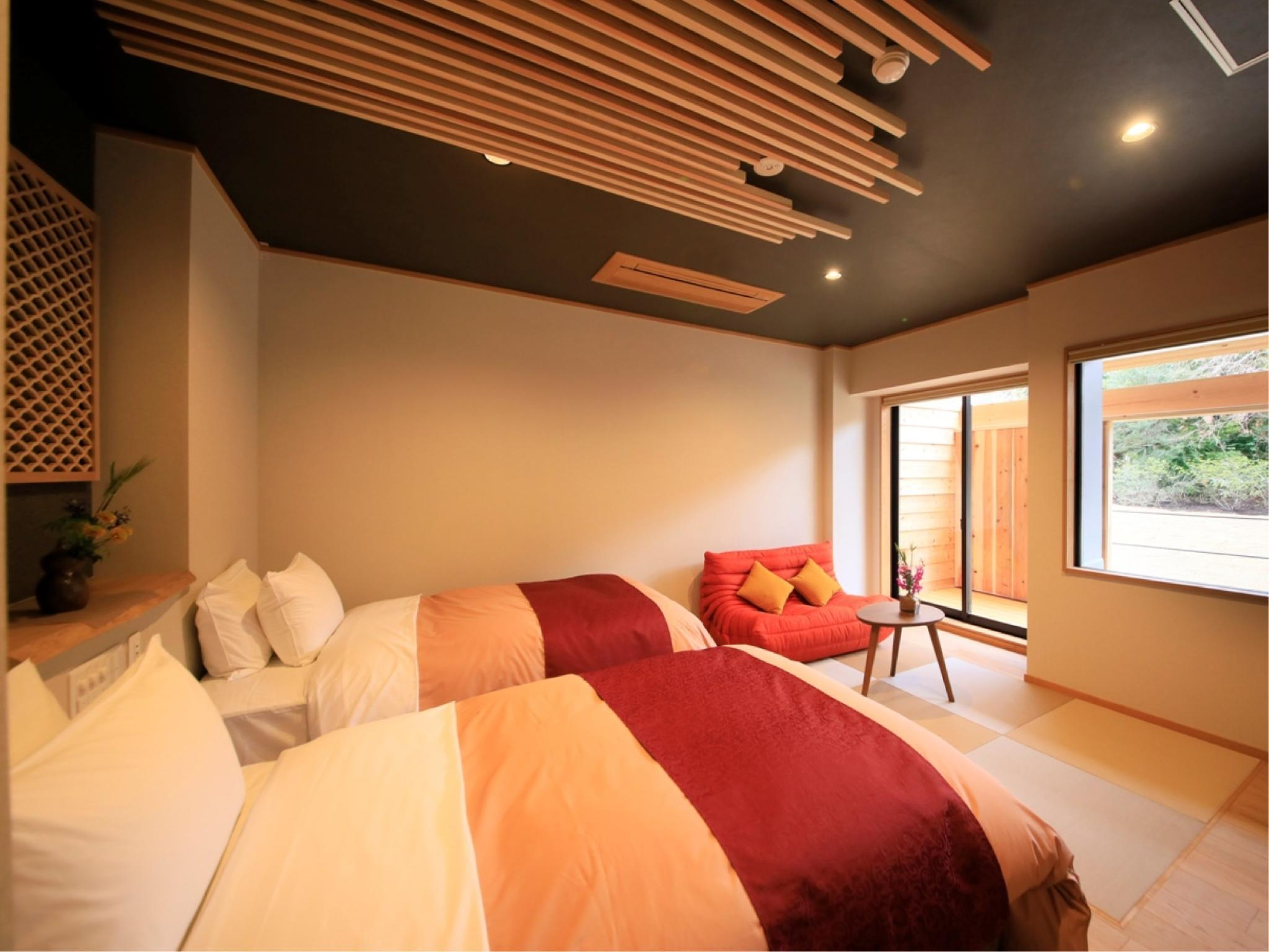 Twin Room with Semi Open-air Hot Spring Bath (Annex)