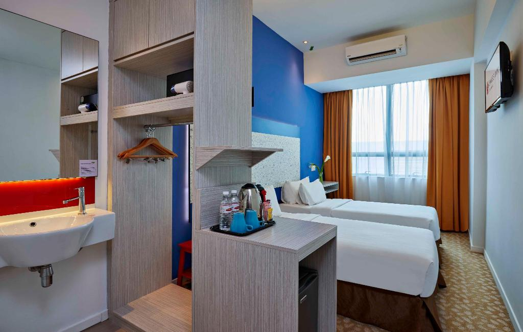 Cosy Single Room - Room plan Swiss Inn Johor Bahru
