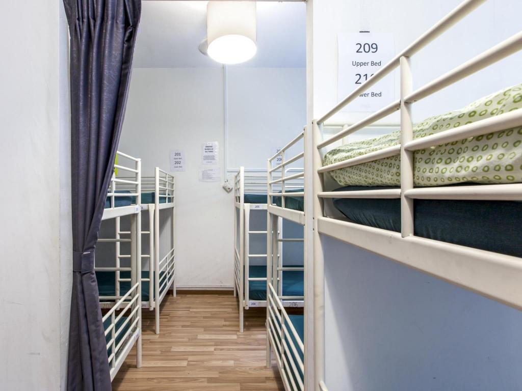 1 Person in 24-Bed Dormitory with Shared Bathroom - Mixed - Balcony New Society Backpackers Hostel