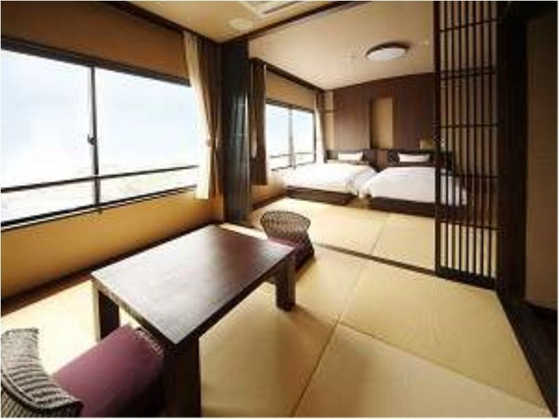 山側・和洋室ツインルーム (禁煙) (Japanese Western Style Room with Twin Bed)