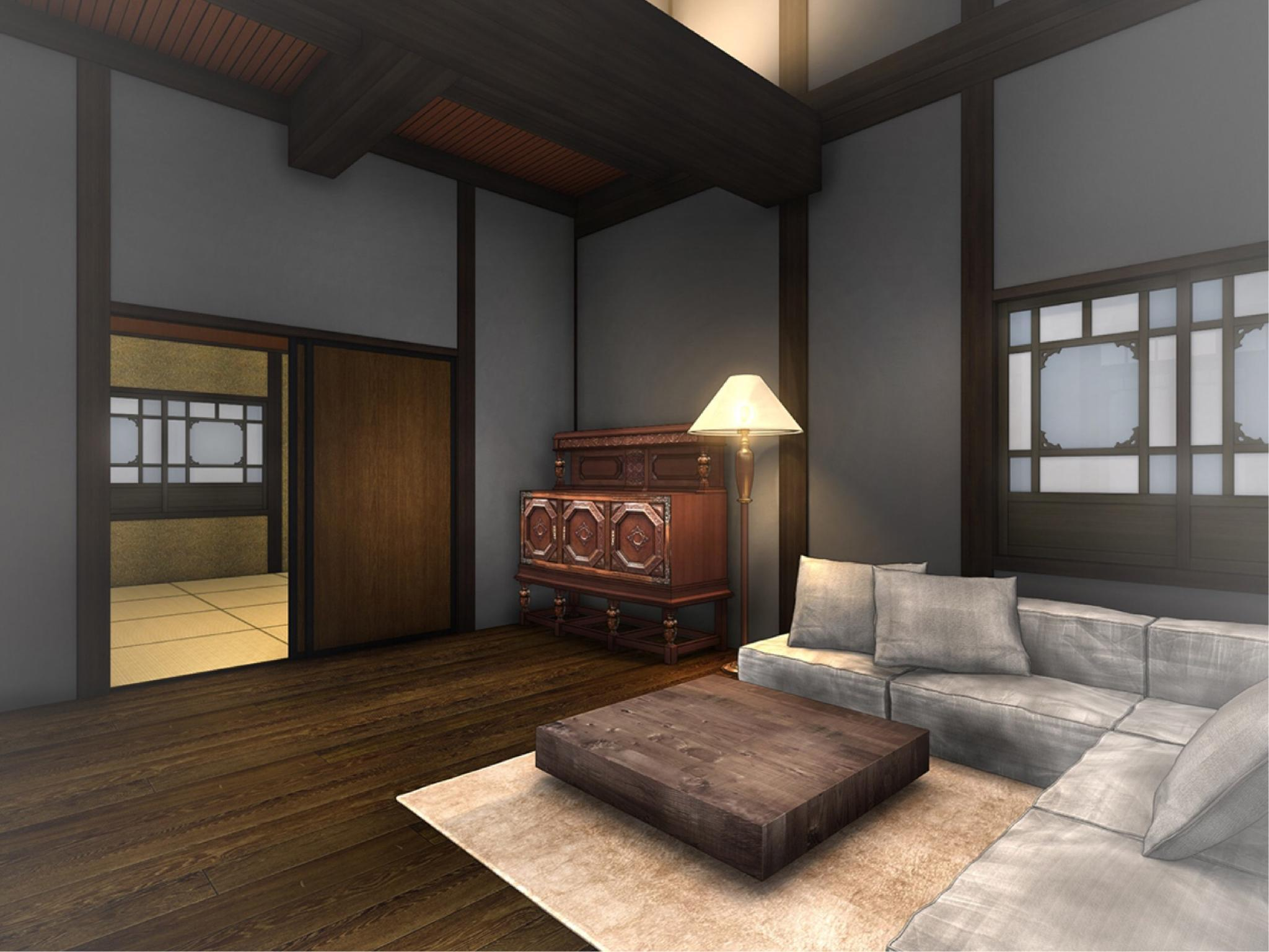다다미 침대 객실(IKUSEISOU/반노천탕) (Japanese/Western-style Room with Semi Open-air Bath (Ikuseisou Type))