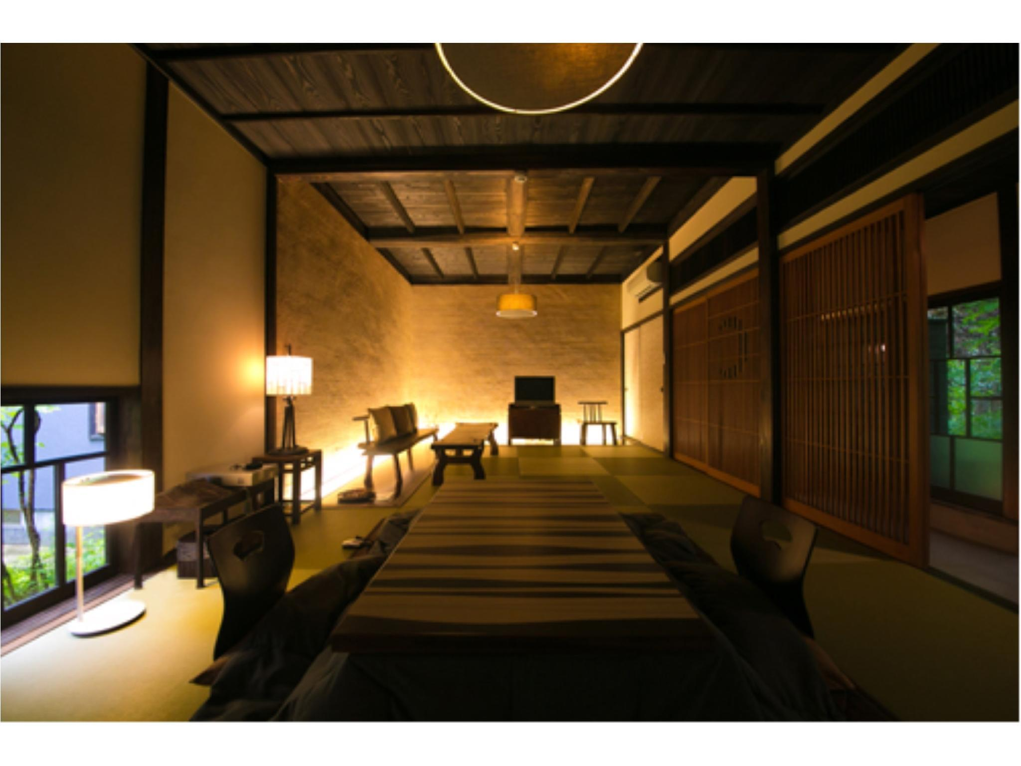 다다미 침대 객실(별채/UTOAN/트윈베드/실내탕) (Detached Japanese/Western-style Twin Room with Indoor Bath (Utoan Type))