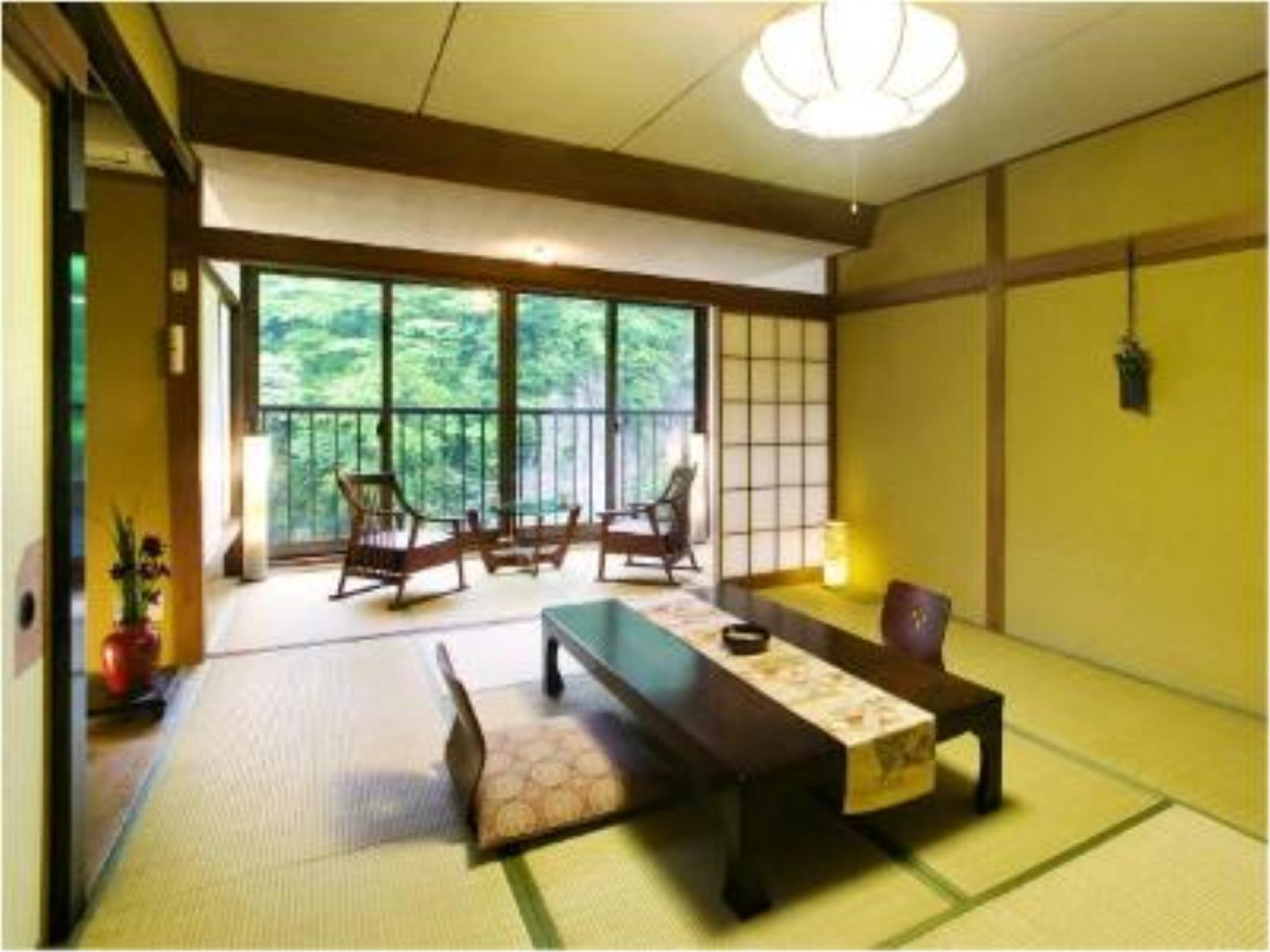 ≪渓の音≫14畳和室|10畳+踏込4畳 (Japanese-style Room (Tani-no-Ne Wing))