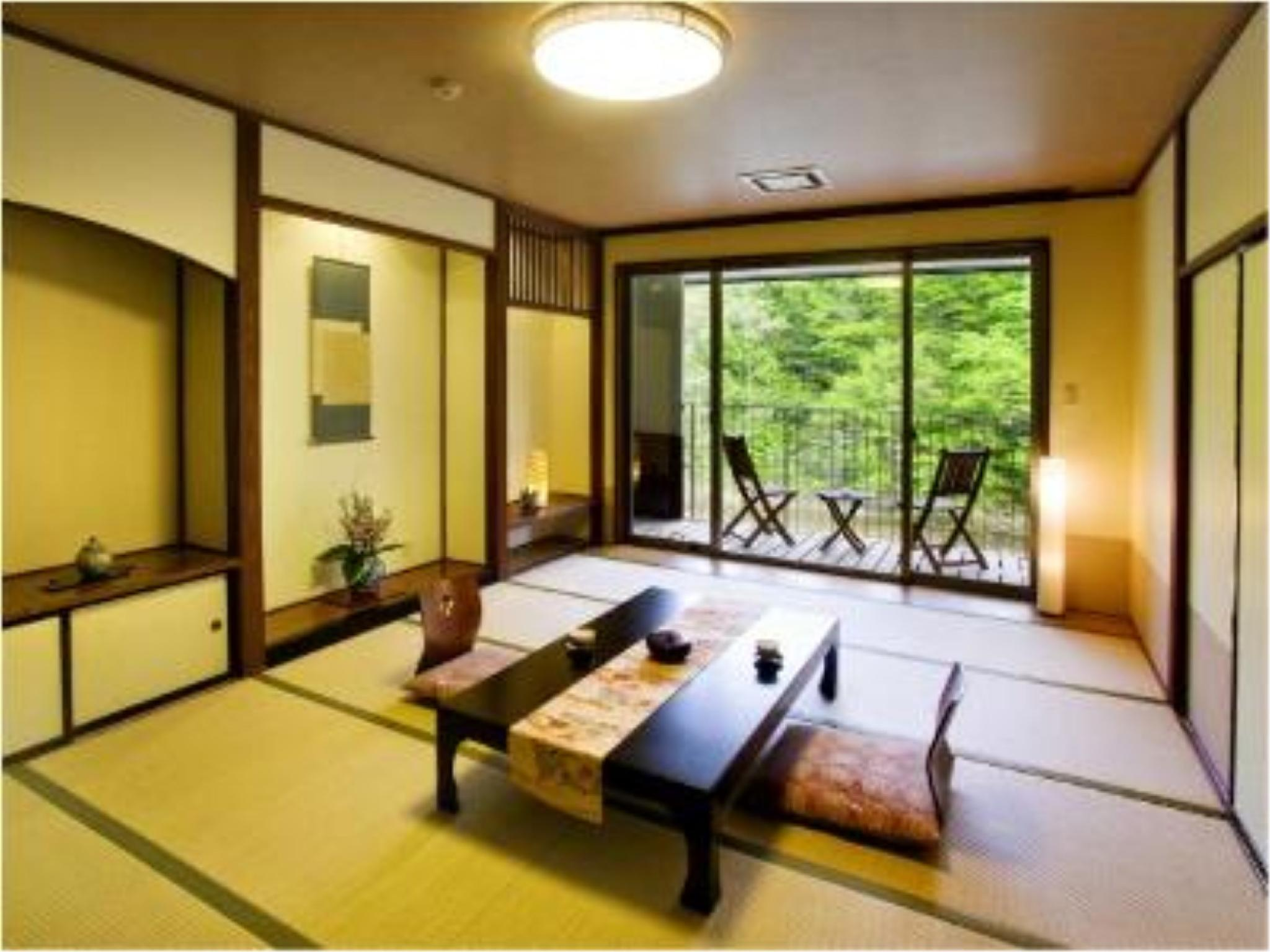 ≪彩の音≫露天風呂付12畳和室(禁煙ルーム)|12畳 (Japanese-style Room with Open-air Bath (Aya-no-Ne Wing))