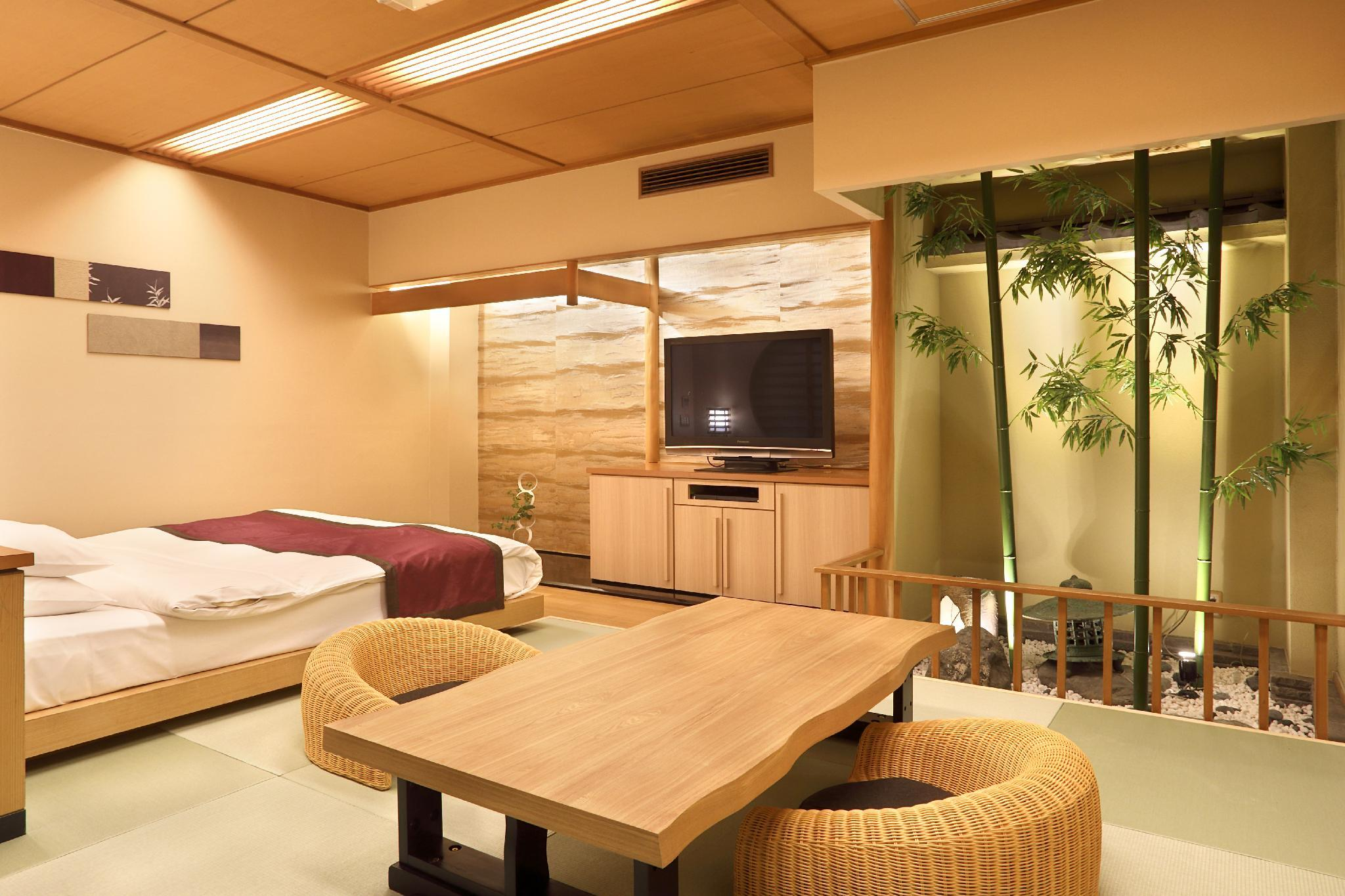 Premium Double Room with Tatami Area and Open-Air Bath