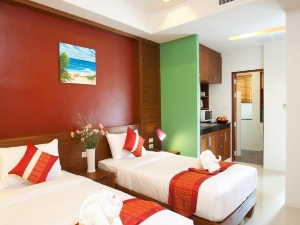 Studio Room - Twin bed - Guestroom Samui Honey Tara Villa Residence