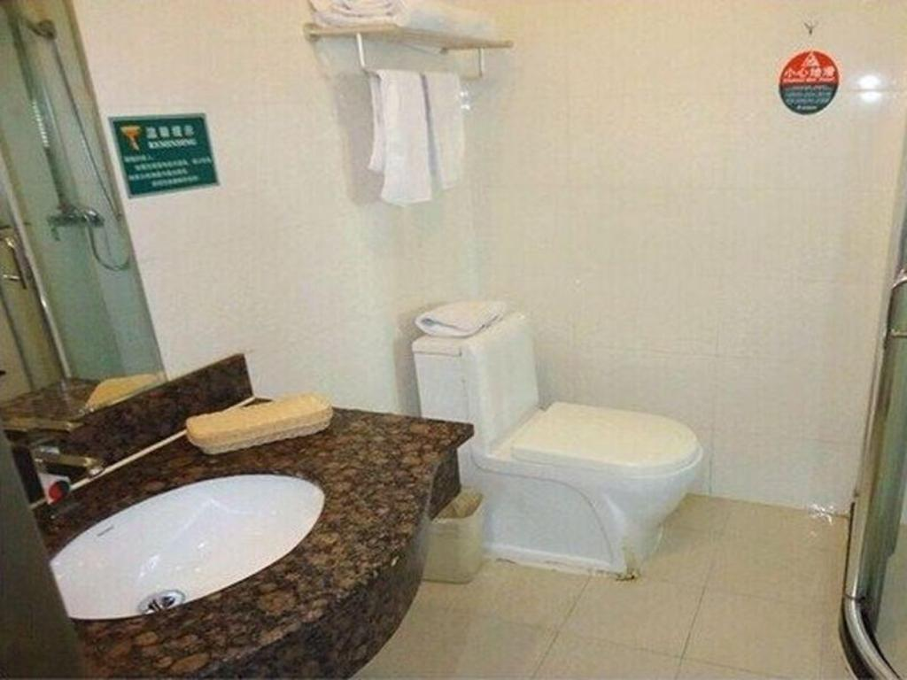 Bathroom Green Tree Inn Anhui Liuan Tian Tang Zhai Zhen Business Hotel
