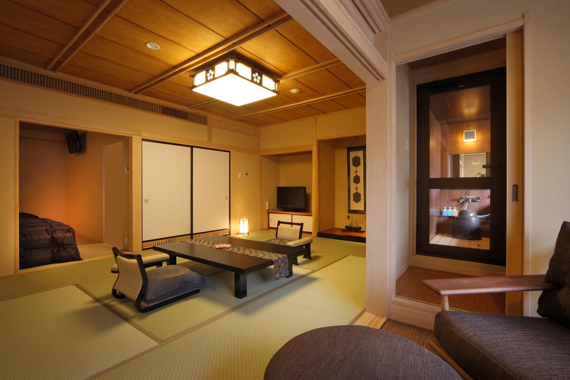 Hachibankan Japanese Western Style Room with River View Bath - Non-Smoking