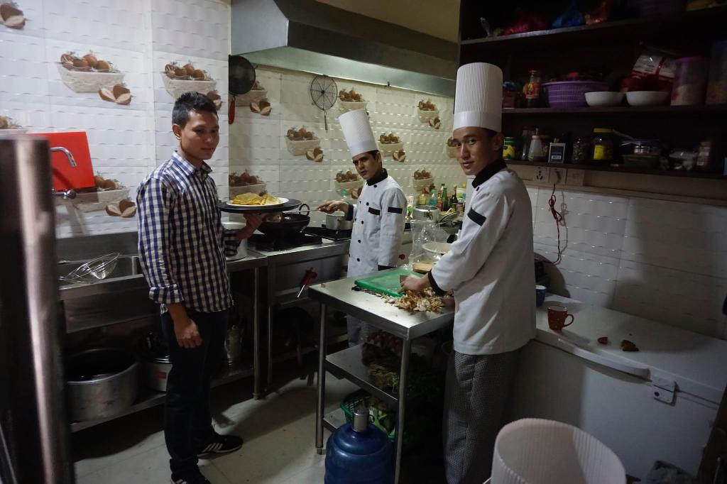 Kitchen Hotel Everest Nepal