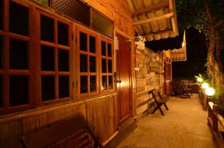 balkong/terrass Pai Cat Hut Guesthouse