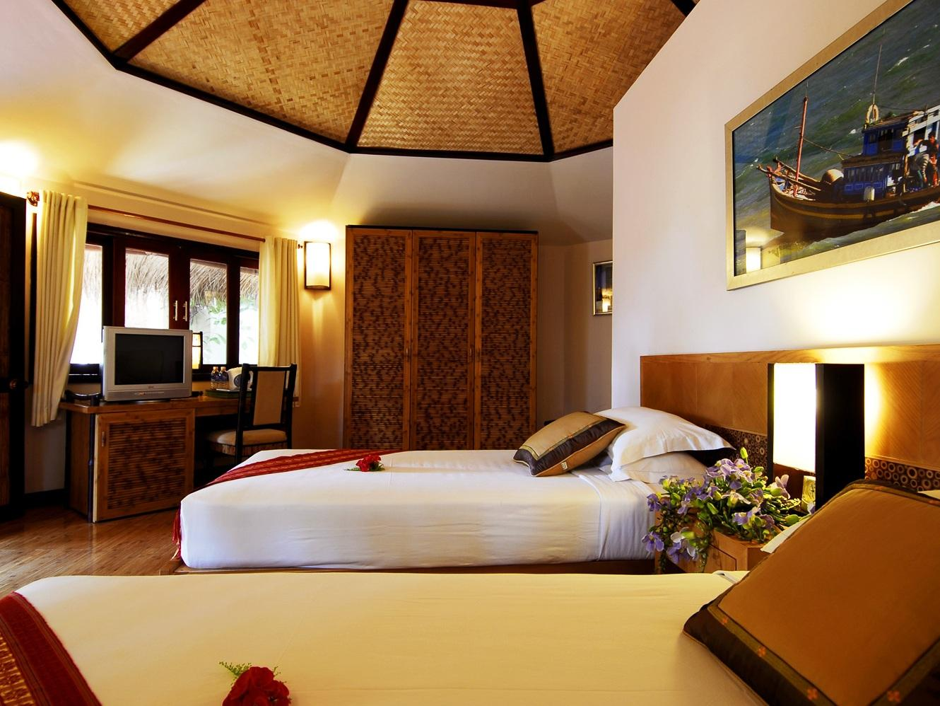 Bungalow con vista al Jardín - Cama matrimonial (Garden View Bungalow Double Bed)