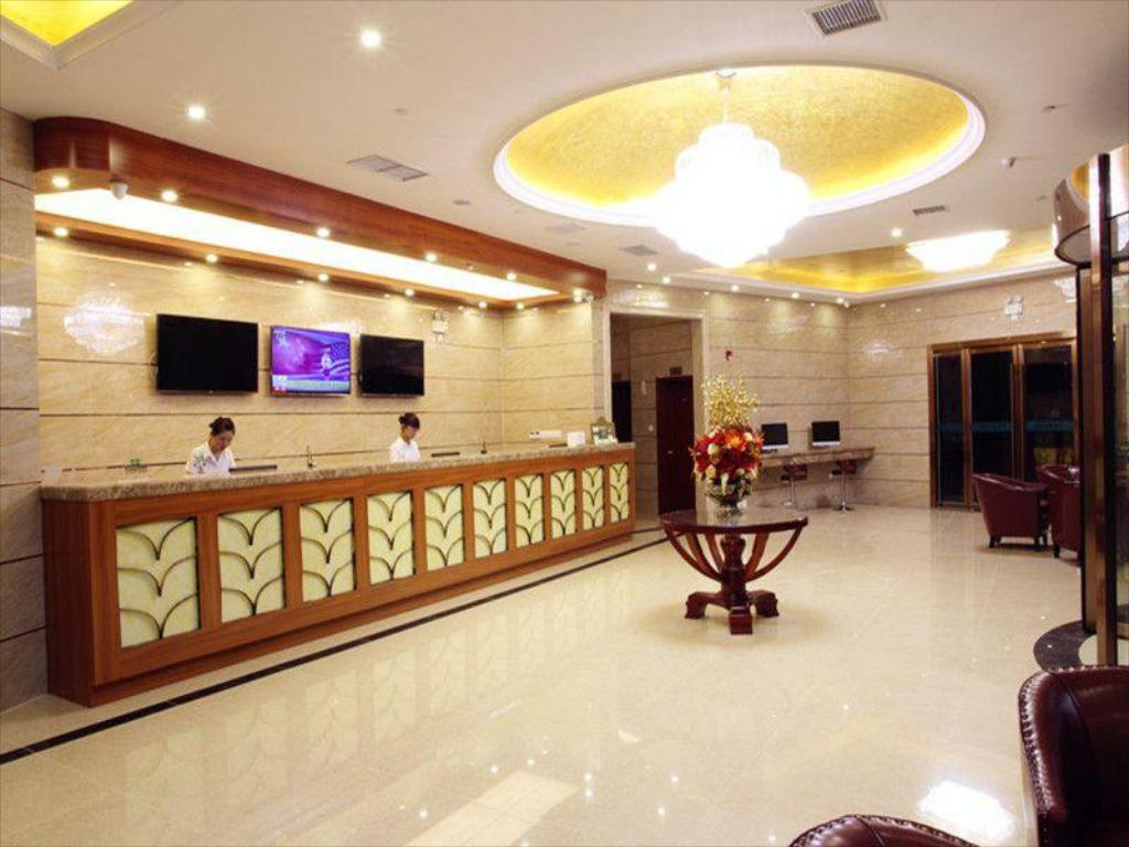 Recepció GreenTree Inn Jiangsu Province Suzhou City Wuzhong District Fengjin Road Business Hotel