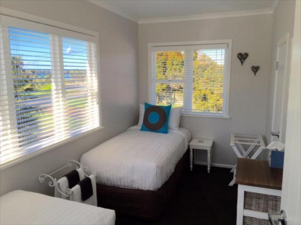 Twin single standard - Gjesterom Kiwi House Waiheke