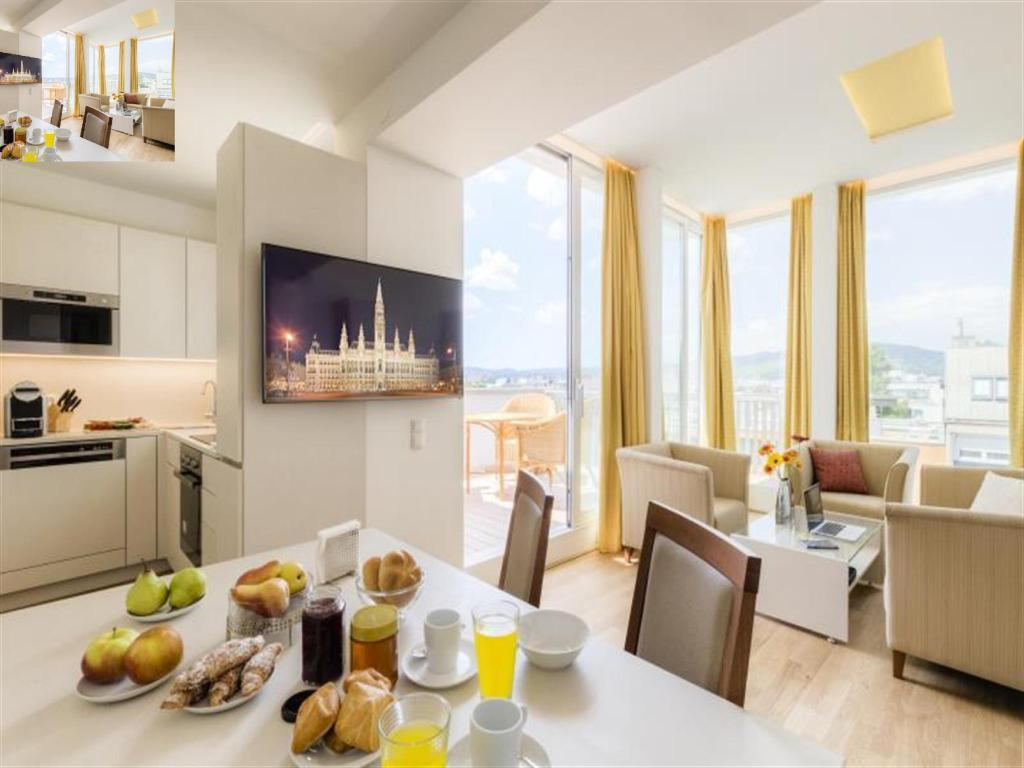 1 Bedroom Penthouse Apartment - Kitchen Vienna Grand Apartments Danube