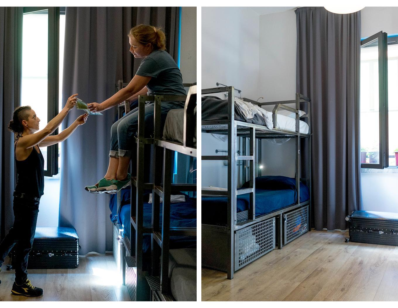 Seng i sovesal (begge kjønn) med 8 senger og eget bad  (Bed in 8-Bed Mixed Dormitory Room with Private Bathroom)