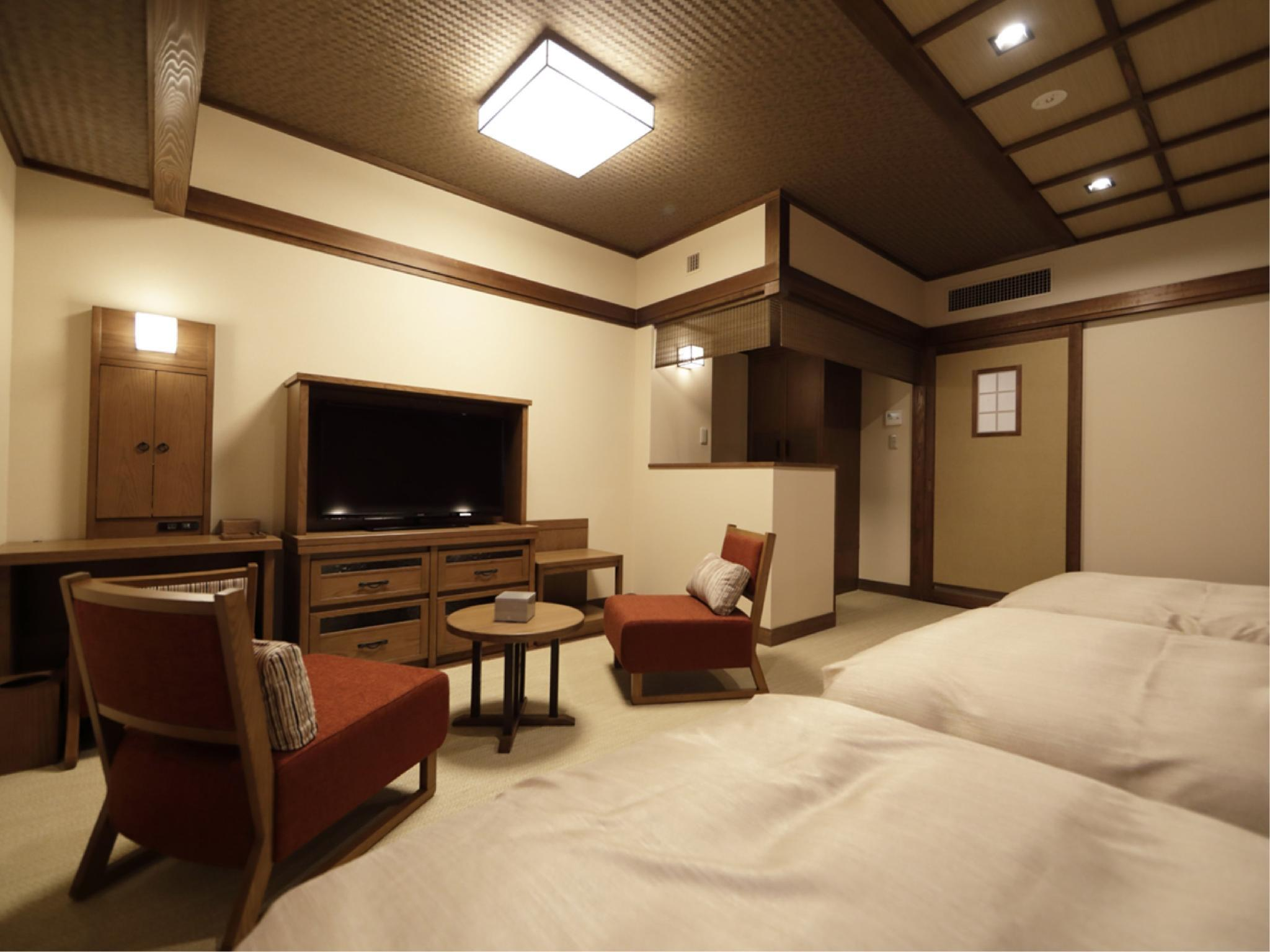 Japanese-style Triple Room with 3 Japanese Beds (Shikishima Wing) *Has bath