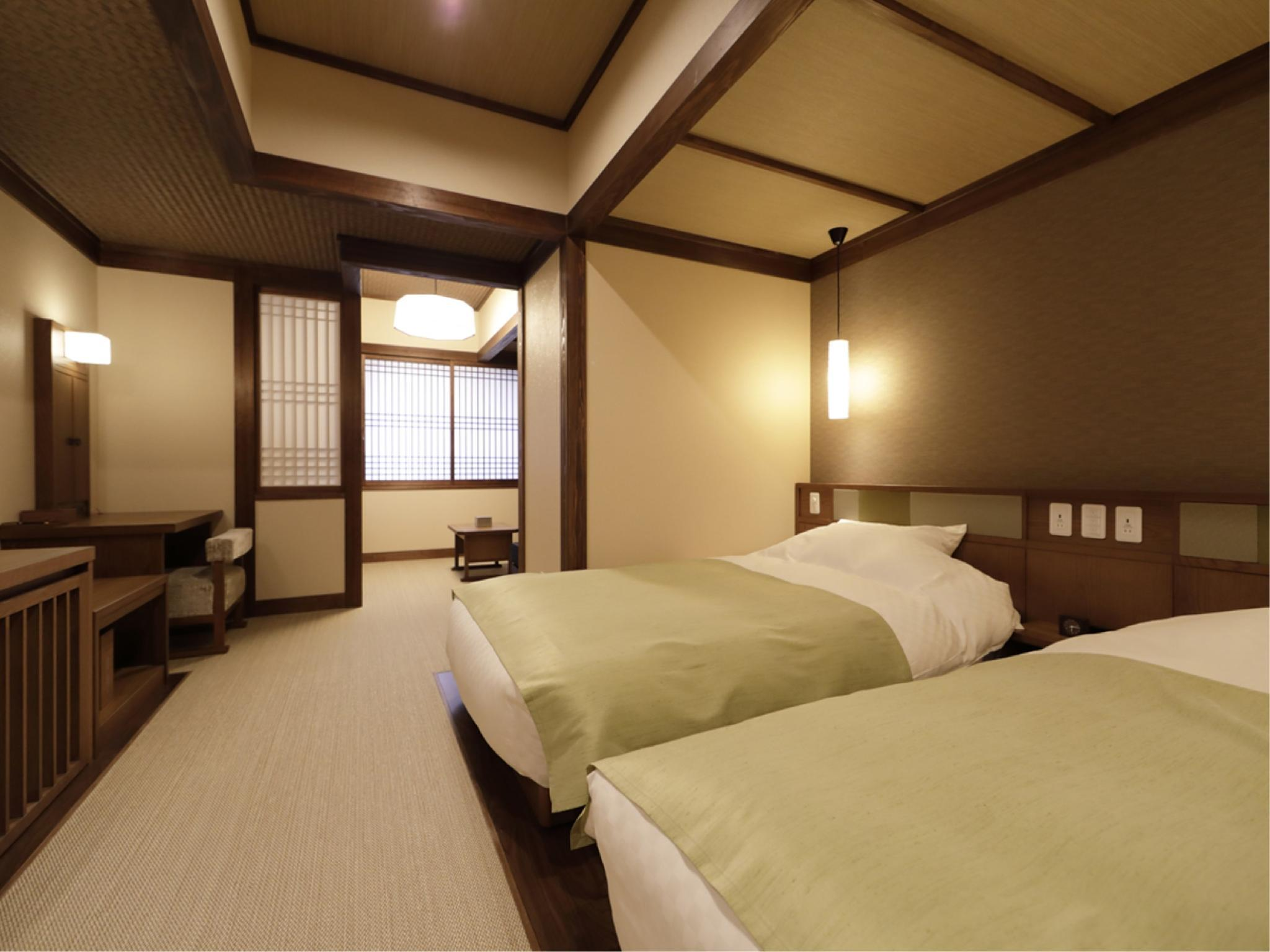 Japanese-style Quad Room with 4 Japanese Beds (Shikishima Wing) *Has bath