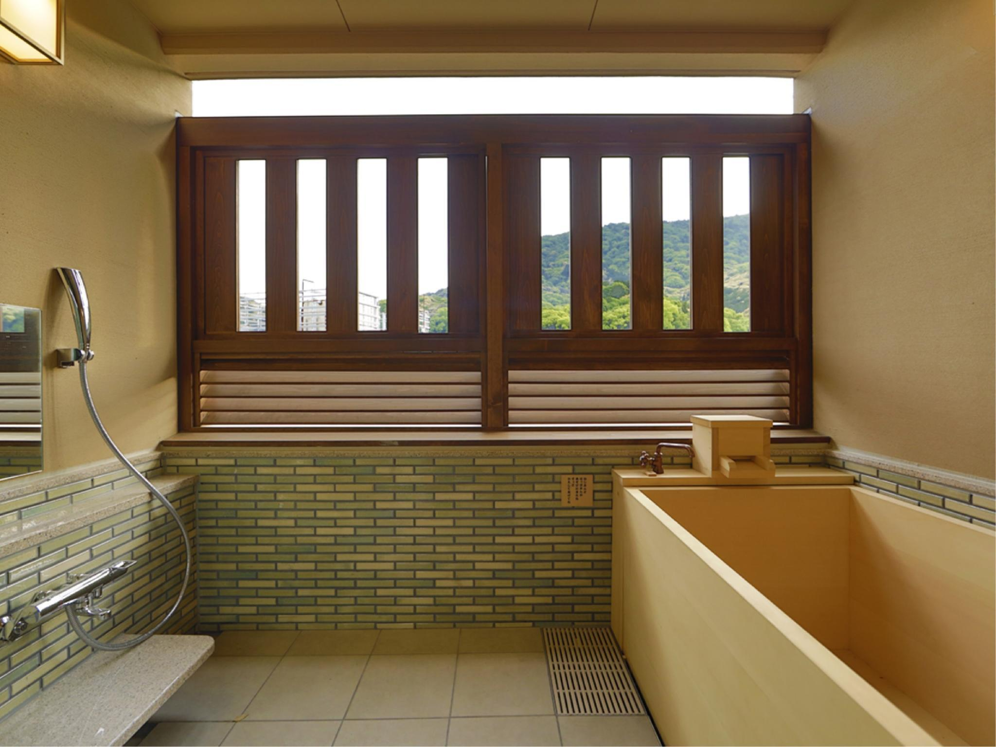 Japanese-style Quad Room with Open-air Cypress Bath (4 Beds, Main Building)