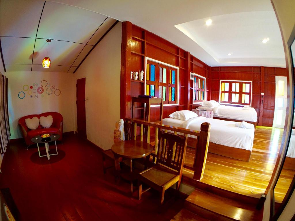 Interior view The Teak Resort @ Chiangdao
