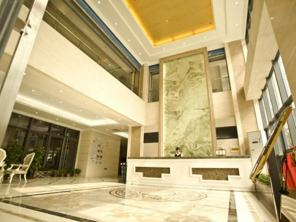 Lobby GreenTree Inn Jiangsu Yangzhou Jiangyang East Road Zhongxin Building Business Hotel