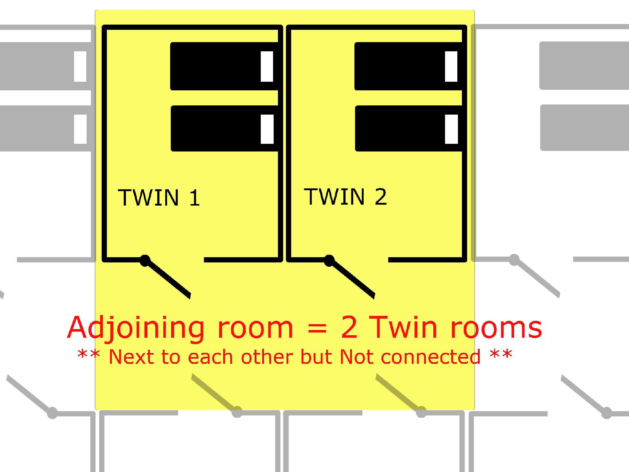 South Tower Adjoining Twin Rooms B - Non-Smoking