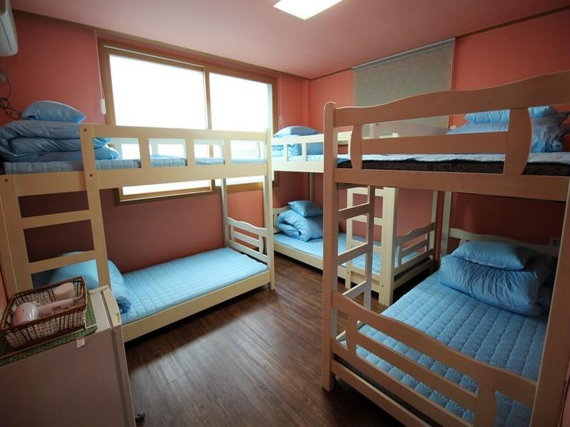 1 seng i 6-sengs sovesal (mænd) (6-Bed Dormitory - Male Only)
