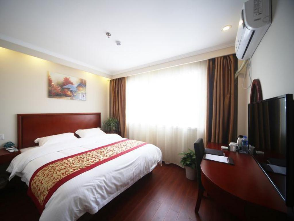 Двухместный номер Hotel с кроватью размера queen GreenTree Inn Jiangsu Nanjing Lishui Country Qinhuai Avenue Qingnian Road Business Hotel