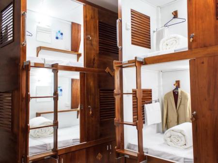 Single Capsule Bed in Mixed Dormitory Room CUBEZ Capsule Hotel