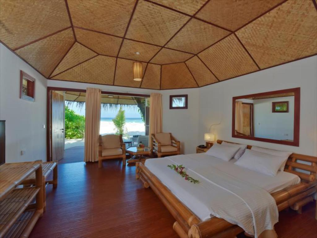 海灘別墅 - 床 馬爾代夫藍色美人蕉島Spa度假村 (Thulhagiri Island Resort & Spa Maldives)