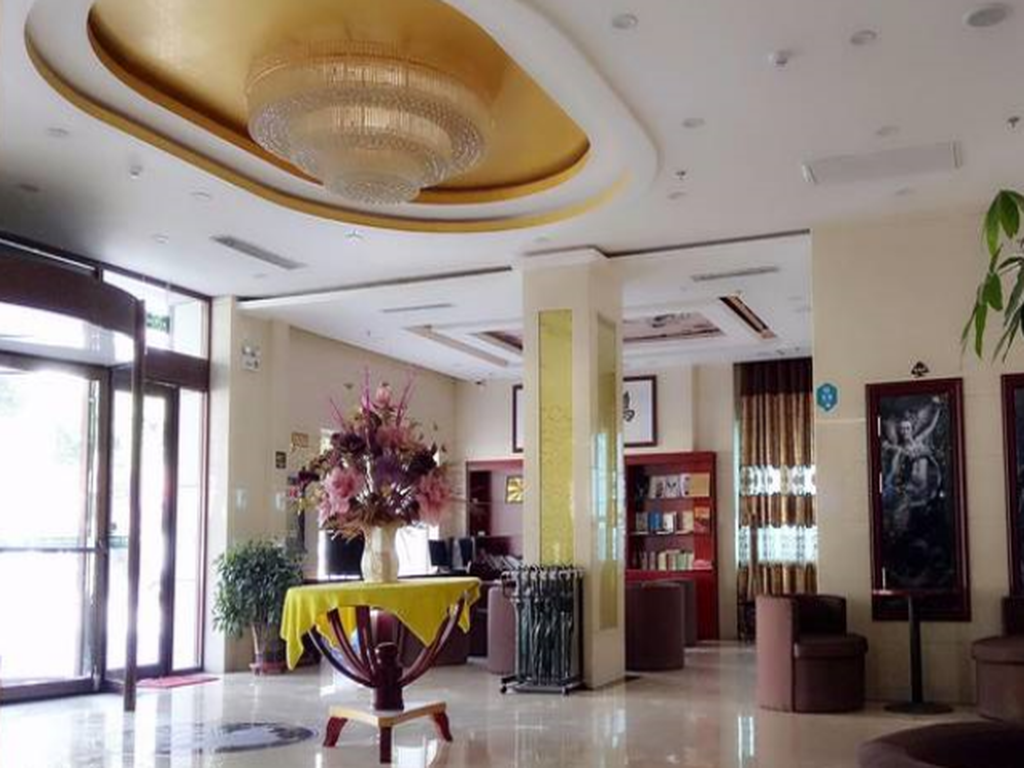 Empfangshalle GreenTree Inn Dunhuang Shazhou North Road Business Hotel