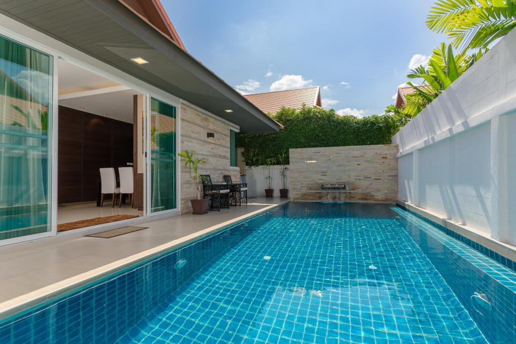 utomhuspool The Ville Pool Villa Jomtien (Luxury pool Villa A23 / 3 BR 6-8 Persons)