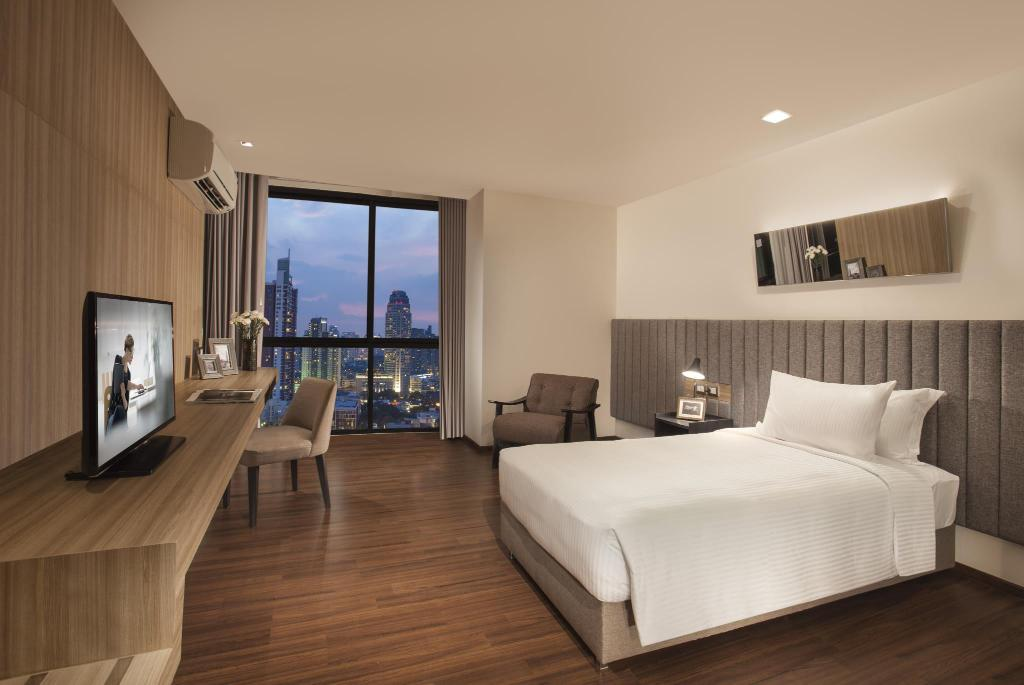 Studio Deluxe - Urban Community Room - Bed Somerset Ekamai Bangkok