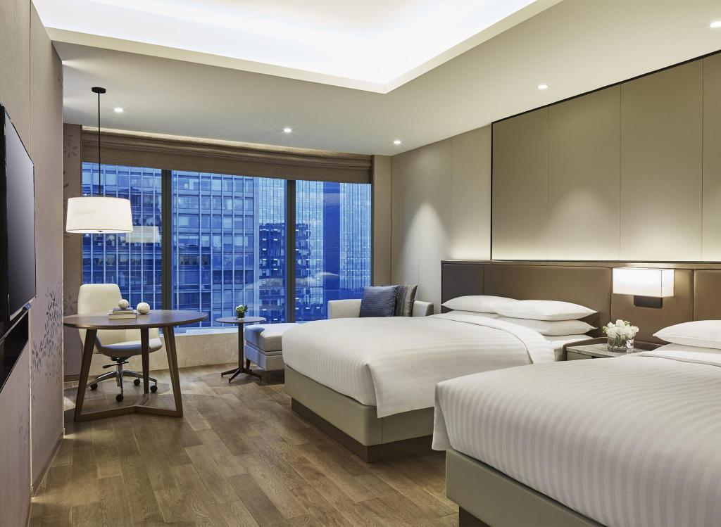 Deluxe Room, Guest room, 1 King or 2 Double - 전망 항저우 메리어트 호텔 첸장 (Hangzhou Marriott Hotel Qianjiang)