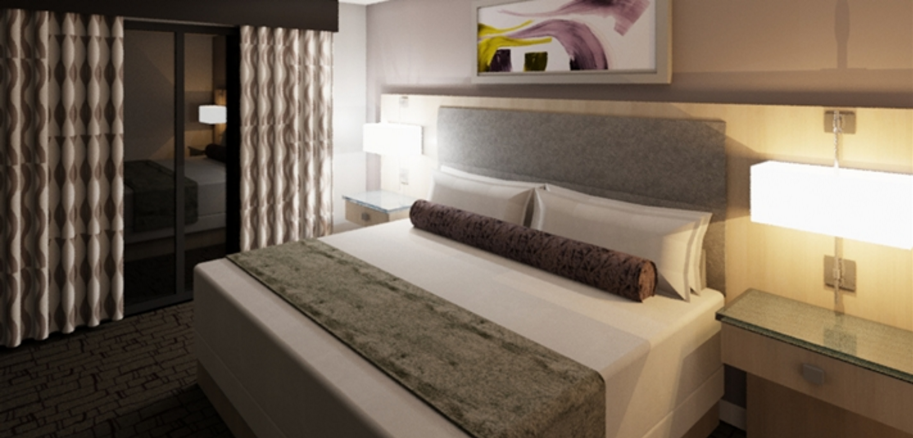 Suite con Letto Matrimoniale King Size - Accessibile per Non Udenti (1 King Hearing Accessible 2 Room Suite)