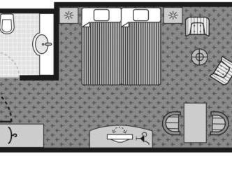 Habitació Doble - Vistes als Voltants (Double Room - Land Side)