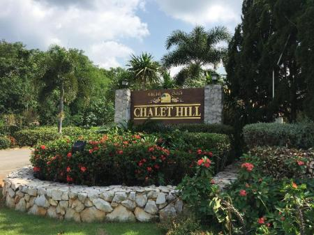 Entrance Chalet Hill Resort Khao Yai