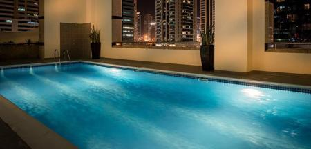 Swimming pool [outdoor] Oaks Liwa Heights Hotel Apartments